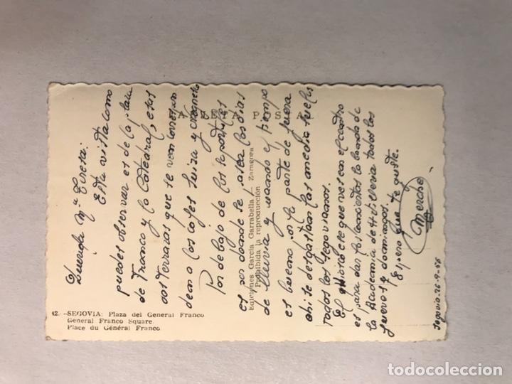 Postales: SEGOVIA. Postal Coloreada No.42, Plaza del General Franco. Edita: Garcia Garrabella (h.1950?) - Foto 2 - 180117811