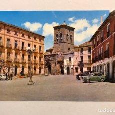 Postales: CARRION DE LOS CONDES (PALENCIA) POSTAL NO.1, PLAZA MAYOR E IGLESIA DE SANTIAGO.. Lote 180135147