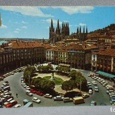 Postales: POSTAL PLAZA MAYOR Y CATEDRAL DE BURGOS CASTILLA Y LEÓN . Lote 180205407