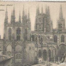 Postales: BURGOS CATEDRAL ESCRITA AL DORSO RESTOS DE HABER ESTADO PEGADA. Lote 180400263