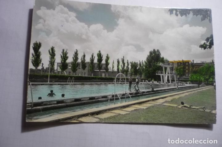 POSTAL PALENCIA.- CIUDAD DEPORTIVA LA JUVENTU .-PISCINA ESCRITA COLOREADA CM (Postales - España - Castilla y León Moderna (desde 1940))