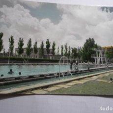 Postales: POSTAL PALENCIA.- CIUDAD DEPORTIVA LA JUVENTU .-PISCINA ESCRITA COLOREADA CM. Lote 180437896