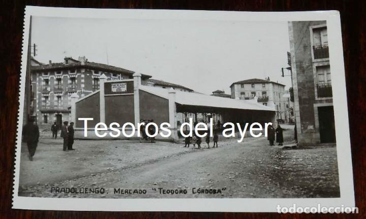 FOTO POSTAL DE PRADOLUENGO, BURGOS, MERCADO TEODORO CORDOBA. NO CIRCULADA. (Postales - España - Castilla y León Antigua (hasta 1939))