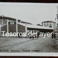 Postales: FOTO POSTAL DE PRADOLUENGO, BURGOS, MERCADO TEODORO CORDOBA. NO CIRCULADA. . Lote 180922531