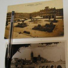 Postales: ANTIGUA TARJETA POSTAL SALAMANCA PLAZA MAYOR Y VISTA PARCIAL APORTO FOTOS CIRCULADAS (19). Lote 181223191
