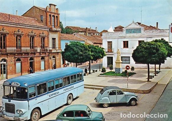 LEON SAHAGUN PLAZA REY BERNARDINO ED. ALCE OVIEDO Nº 250 AÑO 1966 (Postales - España - Castilla y León Moderna (desde 1940))