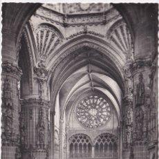Postales: BURGOS - CATEDRAL - NAVE DEL CRUCERO (NO. 56) - ED. ARRIBAS. Lote 183170075