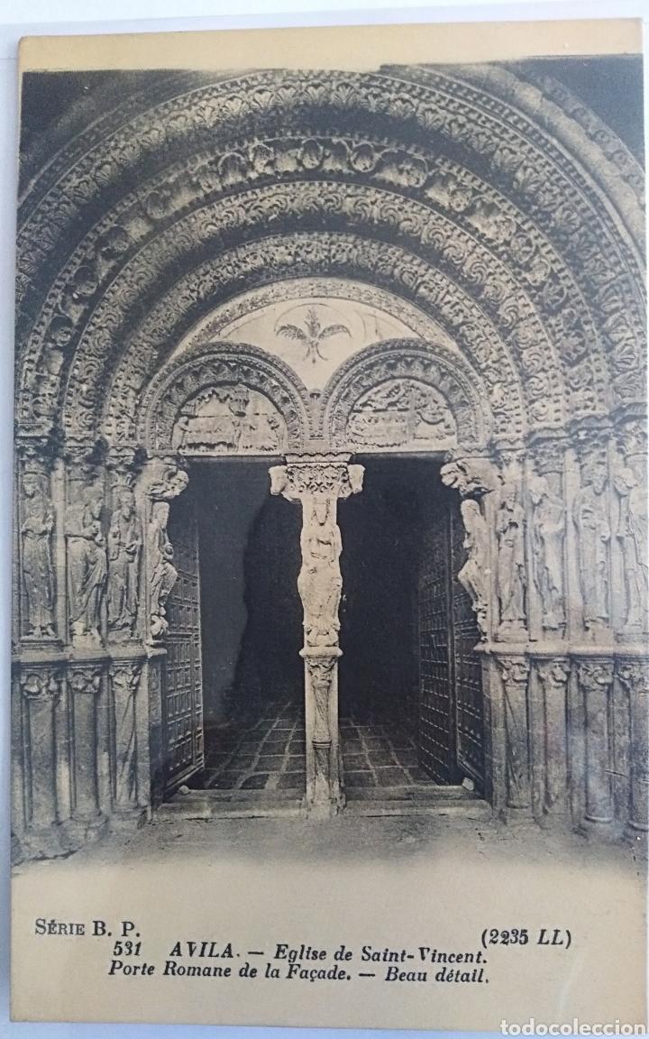 AVILA, IGLESIA DE SAN VICENTE, LUCIEN LEVI (Postales - España - Castilla y León Antigua (hasta 1939))