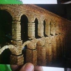 Postales: POSTAL SEGOVIA ACUEDUCTO ILUMINADO ESCRITA Y AGUJEREADA. Lote 183421923