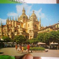 Postales: POSTAL SEGOVIA PLAZA DEL GENERAL FRANCO Y CATEDRAL. Lote 183423877