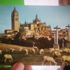 Postales: POSTAL SEGOVIA CATEDRAL VISTA DESDE EL CALVARIO. Lote 183424695