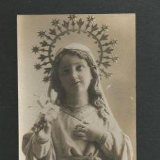 Postales: TARJETA POSTAL FOTOGRAFICA - VIRGEN - CIRCULADA EN EL AÑO 1918 - MATAPOZUELOS - VALLADOLID. Lote 183426005