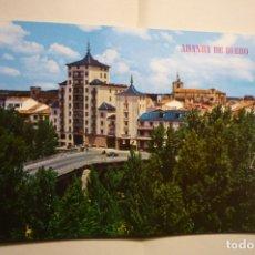 Postales: POSTAL ARANDA DE DUERO - ENTRADA CIUDAD CIRCULADA. Lote 183484612