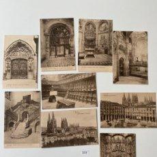 Postales: LOTE DE 9 POSTALES DE BURGOS , SIN ESCRIBIR N. 319 , . Lote 183801883