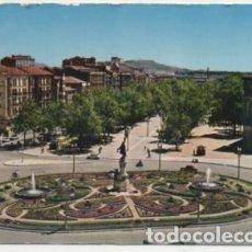 Postales: POSTAL DE VALLADOLID. PLAZA ZORRILLA Y PASEO DEL CAMPO GRANDE P-CASTLE-1271. Lote 183896703