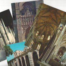 Cartoline: LOTE DE 5 POSTALES- ÁVILA.- CATEDRAL. PÓRTICO DE SAN VICENTE- SIN CIRCULAR . Lote 183936843
