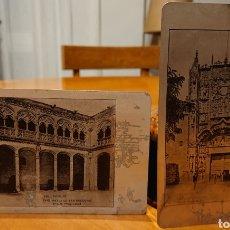 Postales: VALLADOLID, DOS POSTALES METÁLICAS, MUY RARAS,ORIGINALES, AÑO 1910. Lote 184466335