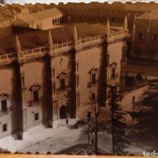 Postales: VALLADOLID, AÑO 1959. PLAZA SANTA CRUZ Y COLEGIO SAN JOSÉ. VISTA AÉREA.. Lote 184736037