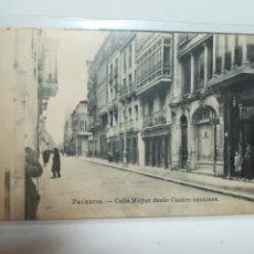 Postales: TARJETA POSTAL. PALENCIA. CALLE MAYOR DESDE CUATRO CANTONES. CASA LUIS SAUS. Lote 184836437