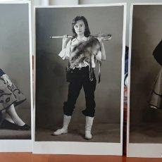 Postales: VALLADOLID, LOTE DE 3 FOTOS GARAY, VALLISOLETANAS.. Lote 185414615