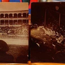 Postales: VALLADOLID, LOTE DOS FOTOGRAFÍAS DE LA PLAZA DE TOROS. AÑOS 20.. Lote 186064710