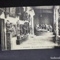 Cartes Postales: TARJETA POSTAL DE VALLADOLID. SALA DE ESCULTURA DEL MUSEO BELLAS ARTES. . Lote 188627273