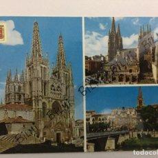 Postales: BURGOS, POSTAL DEL ARCO DE SANTA MARIA Y CATEDRAL, NUMERO 49. Lote 189239072