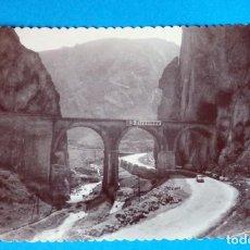 Postales: FOTO POSTAL DE PANCORBO ( BURGOS) PUENTE DEL FERROCARRIL. FOTO COLÓN .BILBAO. Lote 189681327
