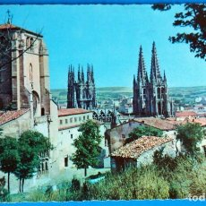 Postales: POSTAL DE BURGOS: IGLESIA SAN ESTEBAN Y CATEDRAL. Lote 189681692