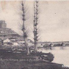Postales: CIUDAD RODRIGO (SALAMANCA) - PUENTE ROMANO SOBRE EL RIO AGUEDA. Lote 190084608