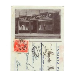 Postales: VILLADA.(PALENCIA).- TEJIDOS RUPERTO DOYAGUE.. Lote 190773182