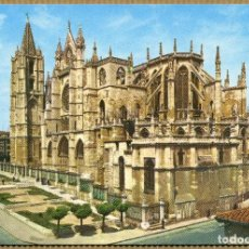 Postales: POSTAL LEON - CATEDRAL ABSIDE. Lote 191092265