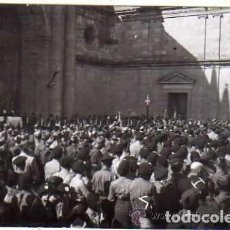 Postales: POSTAL FOTOGRÁFICA. ACTO POLITICO RELIGIOSO JUNTO A LA CATEDRAL DE ZAMORA. FOTO DUBRO. 1936 O 38. Lote 191197048