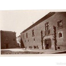 Postales: CIUDAD RODRIGO.(SALAMANCA).- CASA DE LOS CONDES DE MONTARCO É INSTITUTO.. Lote 191588790