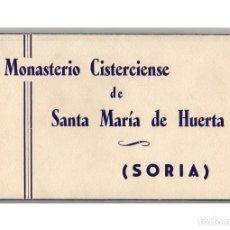 Postales: SORIA.- BLOCK 10 POSTALES DEL MONASTERIO CISTERCIENSE DE SANTA MARÍA DE LA HUERTA. FOTOGRÁFICA.. Lote 191621415
