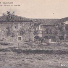 Postales: PALACIO DE HOYUELOS (SEGOVIA) - VISTA DESDE EL JARDIN - ACTUALMENTE CASA RURAL. Lote 192765557
