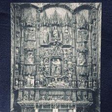 Postales: POSTAL BURGOS 63 EL RETABLO DE LA IGLESIA DE SAN NICOLAS TALLADO COLONIA NO INSCRITA NO CIRCULADA . Lote 193857703