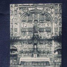 Postales: POSTAL 35 BURGOS CATEDRAL RETABLO DE SANTA ANA S XV SIMON DE COLONIA NO INSCRITA NO CIRCULADA HAUSER. Lote 194011708