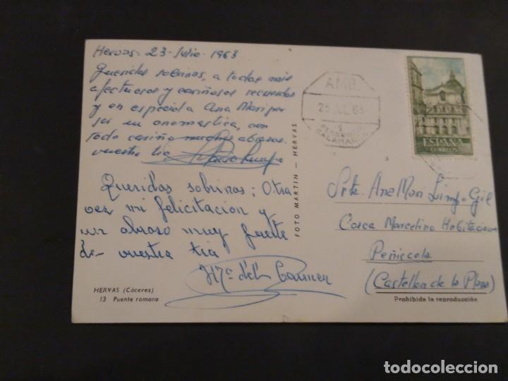 Postales: Hervás 13 Puente Romano. Circulada con ambulante. - Foto 2 - 194071172