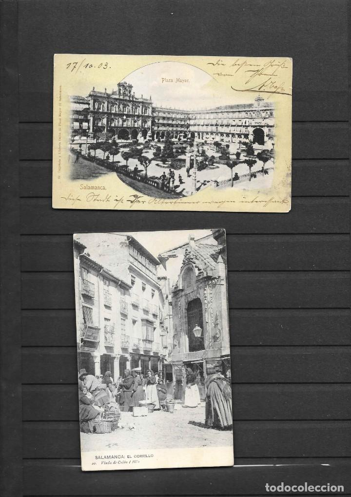 SALAMANCA DOS POSTALES INTERESANTES CIRCULADAS EN 1903 Y 1921 (Postales - España - Castilla y León Antigua (hasta 1939))