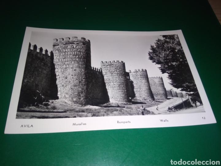 ANTIGUA POSTAL DE MURALLAS DE ÁVILA. AÑOS 50 (Postales - España - Castilla y León Moderna (desde 1940))