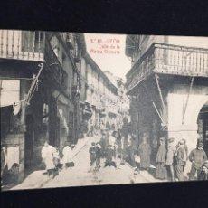Postales: POSTAL LEON N 111 CALLE REINA VICTORIA THOMAS NO INSCRITA NO CIRCULADA. Lote 194297435