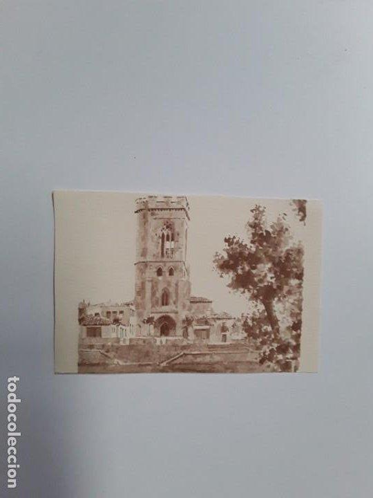 IMAGEN DE LA CATEDRAL DE SAN MIGUEL PINTADA EN ACUARELA (Postales - España - Castilla y León Moderna (desde 1940))