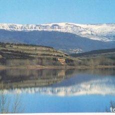 Postales: POSTAL FRONTADA, PALENCIA, CON EMBALSE DE AGUILAR DE CAMPOO. Lote 194312496