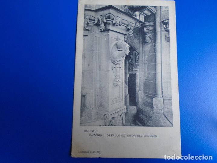 BURGOS CATEDRAL DETALLE DEL EXTERIOR DEL CRUCERO COLECCION D´ASLOC (Postales - España - Castilla y León Antigua (hasta 1939))