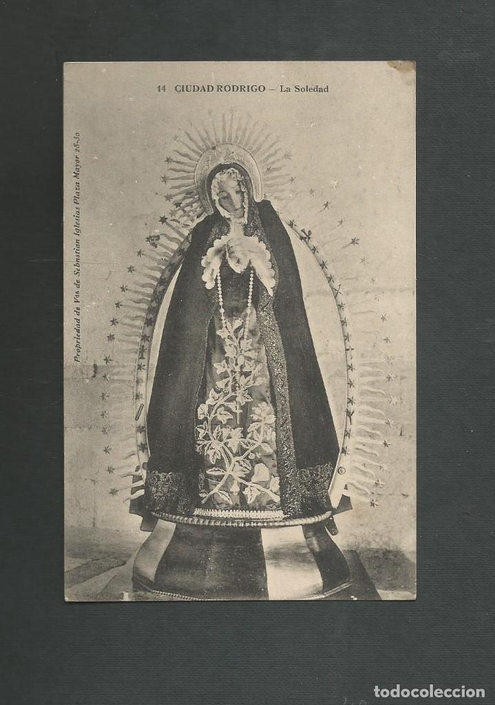 POSTAL CIRCULADA FECHADA EN CIUDAD RODRIGO SALAMANCA EL 13 DEABRIL DE 1916 EDITA VDA SAN SEBASTIAN (Postales - España - Castilla y León Antigua (hasta 1939))