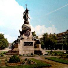 Postales: VALLADOLID. 29 MONUMENTO A CRISTÓBAL COLÓN. ESCUDO DE ORO. USADA CON SELLO. COLOR. Lote 194872473