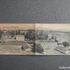 Postales: VALLADOLID POSTAL DOBLE MUY ANTIGUA VISTA GENERAL. Lote 194915056