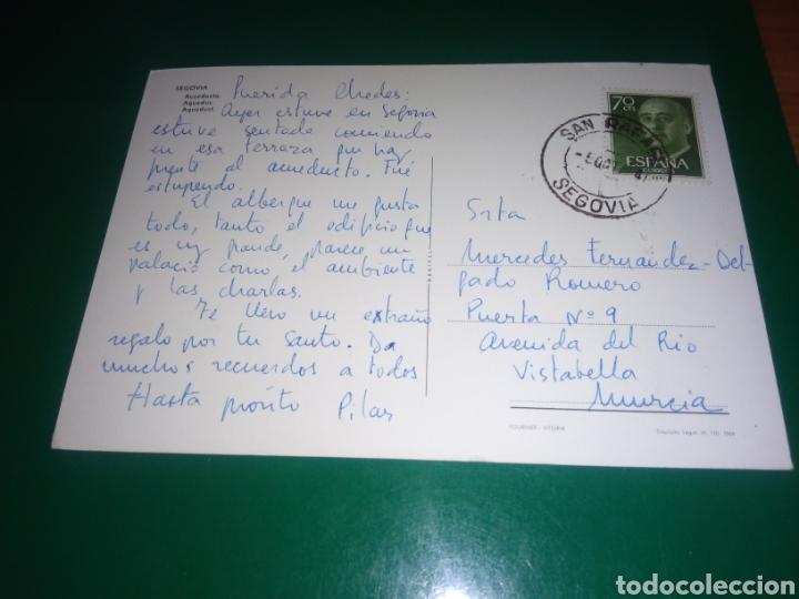 Postales: Antigua postal de Segovia. El acueducto. Años 60 - Foto 2 - 195017446