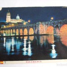 Postales: POSTAL SALAMANCA - PUENTE ROMANO ILUMINADO - 1966- MANIPEL 13 - CIRCULADA. Lote 195028910